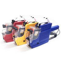 MX 6600 Two Line Price Labeler 10 Digits Tag Sticker Pricing Gun Refillable Ink Roller Price