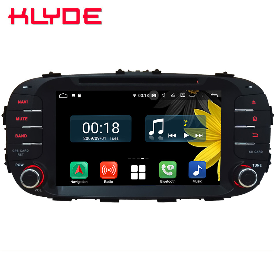 8 Octa Core 4g Android 8.1 4 gb RAM 64 gb ROM RDS BT Voiture Lecteur DVD Radio GPS Glonass Navigation Pour Kia Soul 2014 2015-2017 2018