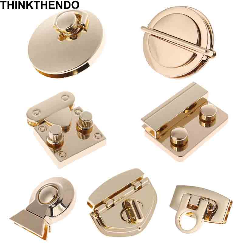 Turn-Lock Purse Handbag Hardware-Accessories Clasp Craft-Bag Metal for DIY