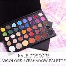 дешево!  39 Цветовой блеск Палитра теней для век Матовый блеск для макияжа Палитра теней для век Сильно пигме