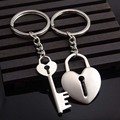 2019 Hot Novelty Chaveiro Couple Keychain Lovers Heart Key Chain Ring Llaveros Trinket Jewelry Valentine's Day Wedding Gift