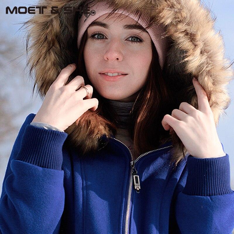 Американский размер, S-3XL, улучшенная качественная женская куртка, весеннее зимнее пальто, толстовка с капюшоном из меха енота, женская одежда#3002