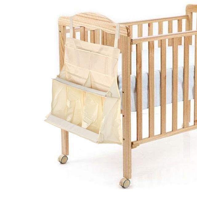 A prueba de agua Bolsa de Pañales Organizador Colgando Cama de Bebé ropa de Cama de Bebé Cuna Colgando Organizador de Almacenamiento Portátil 63*48*25 cm