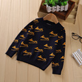 baby boys sweater autumn spring kids o-neck letter printed long sleece christmas fashion toddler cardigan children clothes 2-6T