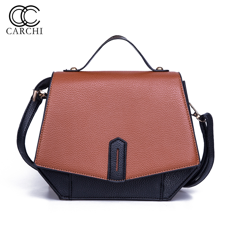 CARCHI New Arrival Women Vintage Tote Female PU Leather Handbags Ladies Party Shoulder Bags Evening Bags Fashion Top-Handle Bags hot new arrival vintage tote bag women leather handbags ladies party shoulder bags fashion top handle bags ladies cute bear drop