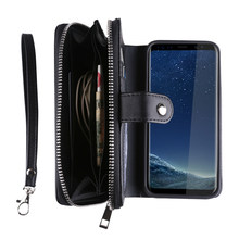 Textile Pattern Split Wallet Holster Cases For Samsung Galaxy S8 Plus S4 S5 S6 Edge S7 Note 4 5 Phone Bag For iPhone 7 Plus 6 5S(China)