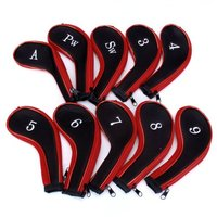 JHO MECO TM 10 Golf Clubs Iron Set Headcovers Head Cover