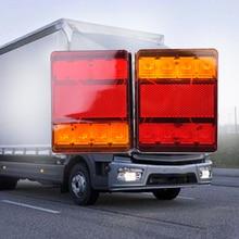 2×12 В Водонепроницаемый прочный автомобиль грузовик светодио дный задний свет Аварийные огни сзади лампа для прицепа караваны UTE отдыхающих ATV лодки