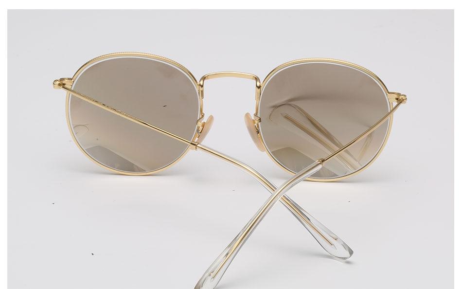 HTB1k5eYcYsTMeJjSsziq6AdwXXav - Luxury Round Sunglasses Women Brand Designer 2018 Retro Sunglass Driving Sun Glasses For Women Men Female Sunglass Mirror 3447