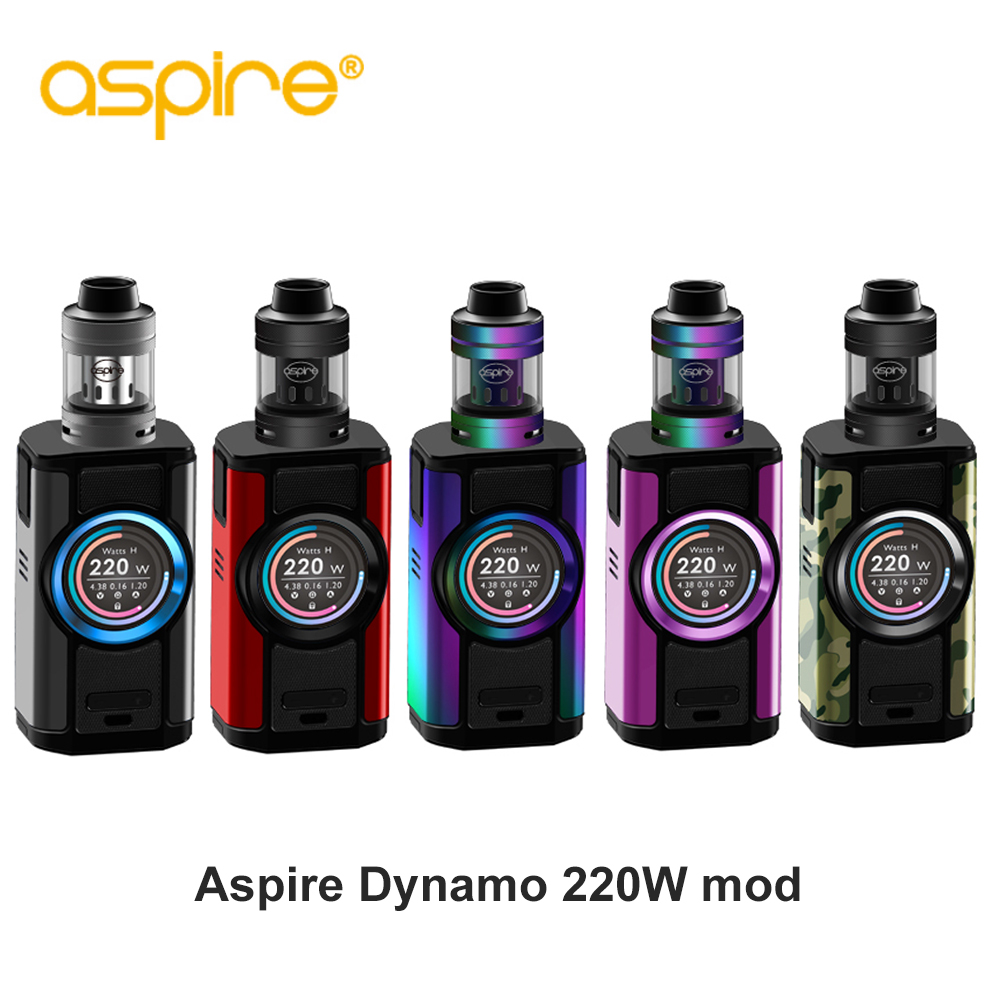 Original Aspire Dynamo Kit 220W High Power vape kit Device Support VW VV Bypass CPS TC