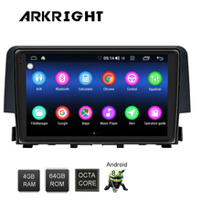 IPS ARKRIGHT 9 Built-in 4G Modem DSP 4GB+64GB Autoradio For Honda Civic 2016 2017 Android8.1 Octa Core Z-link Android Car Radio