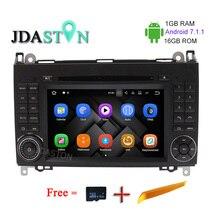 JDASTON 1 г + 16 г Android 7,1 CD проигрыватели DVD плеер для Mercedes Benz Sprinter B200 B-класс w245 B170 W209 W169 gps радио мультимедиа