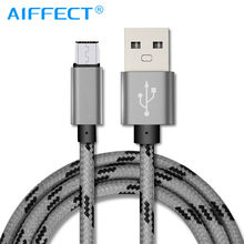 AIFFECT Micro USB Cable 2A Fast Charging Cable Nylon USB Data Cable for Android Mobile Phone Cables Strong Metal Charger Cord(China)