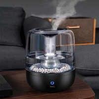 Humidificador de aire para el hogar S040, humidificador de tipo negro puro, difusor de Calidad de Agua purificada de 4000 ML, purificador de pulverizador fácil de limpiar