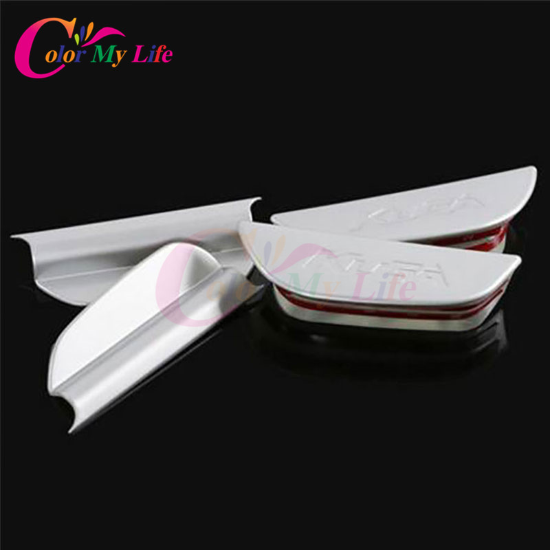 Color My Life Car Chrome Front Door Handle Box Doors Storage Armrest Box for Ford Kuga Escape 2013 - 2018