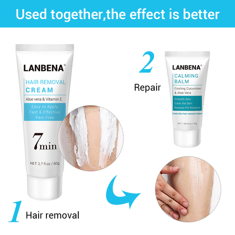 LANBENA Hair Removal Cream Repairing Painless  Removal Depilation Gentle Not Stimulating Effective Epilator Nourishing Body Care Multan