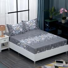 Comwarm, скандинавский стиль, полиэстер, наматрасник для спальни, наматрасник с растительным принтом, натяжная простыня, защитная подушечка, простыня для кровати, с подсветкой