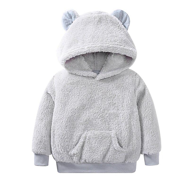 2018 new Autumn and winter furry bear ear hooded sweatshirt warm solid fashion sweatshirt недорго, оригинальная цена