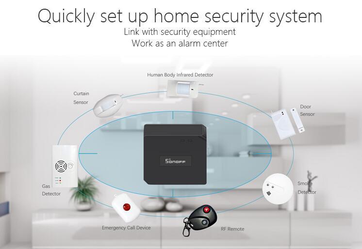 Sonoff Smart Home Automation Door Window Motion Alarm Sensor, Pir2 Sensor  and RF Bridge 433 Work with Amazon Alexa, Google Home