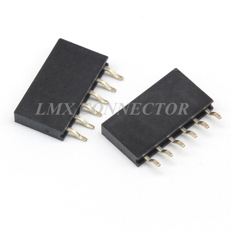 500PCS 2.54mm Female Pin Header Connector 1x6p Single Row SMT SMD Plstic Heighe 8.5mm 500pcs 0402 1005 47nh chip smt smd multilayer inductors