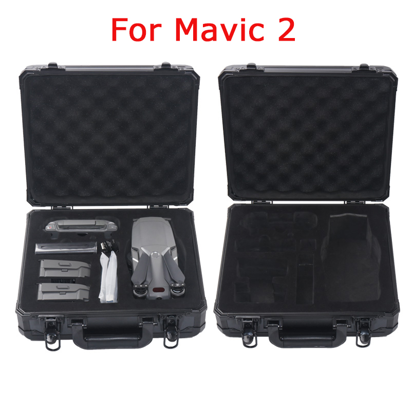 Black Aluminum Case For DJI Mavic 2 Suitcase Anti-fall Protection Box Portable Storage Bag 4k Drone EVA Case free shipping new marvel hot movie play arts pa the red batman pvc action figure statue doll toy 27cm model toys hot sale gs060