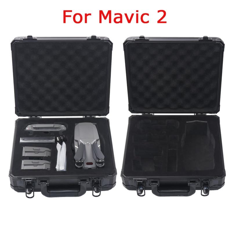 Black Aluminum Case For DJI Mavic 2 Suitcase Anti-fall Protection Box Portable Storage Bag 4k Drone EVA Case bill hughes samsung galaxy s5 for dummies