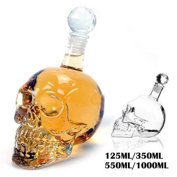 4 Size Crystal Head Vodka Bottle Skull Head Bottles Transparent Gothic Decanter