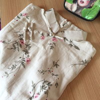 Burgundy Traditional Chinese 2017 Classic Dress Women S Cotton Cheongsam New Summer Mini Qipao Size S