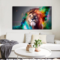 Big size Pangu Culture Modern Animal Colorful Lion King Canvas Painting HD Print on Canvas Home Wall Decor Art Picture Painting