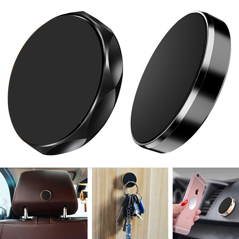 Universal Magnetic Dashboard Car Phone Holder Stand Mobile Phone Desktop Wall Mount Support For iphone Xiaomi With Metal Plate