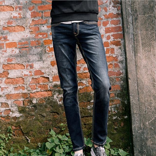 am besten verkaufen klassischer Chic neue niedrigere Preise US $42.99 |Britischen stil jeans männer winter gerade dünnes jeans Micro  stretch baumwolle herren jeans größe 28 29 30 31 32 33 34 36 38 hosen in ...