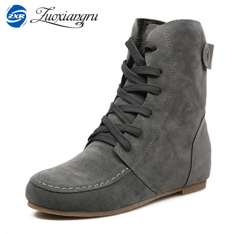 Zuoxiangru Autumn and Winter Boots Snow Boots for Women Martin Boots Suede Leather Boots Couples Shoes Cotton martin winter boots for men and men s winter snow boots warm cashmere waist leather shoes in winter thickening