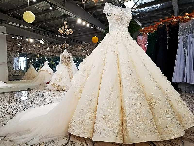 6497e66df63b ... LS64511 cap sleeves wedding dress appliques champagne lace latest  decent keyhole back ball gown wedding dresses ...