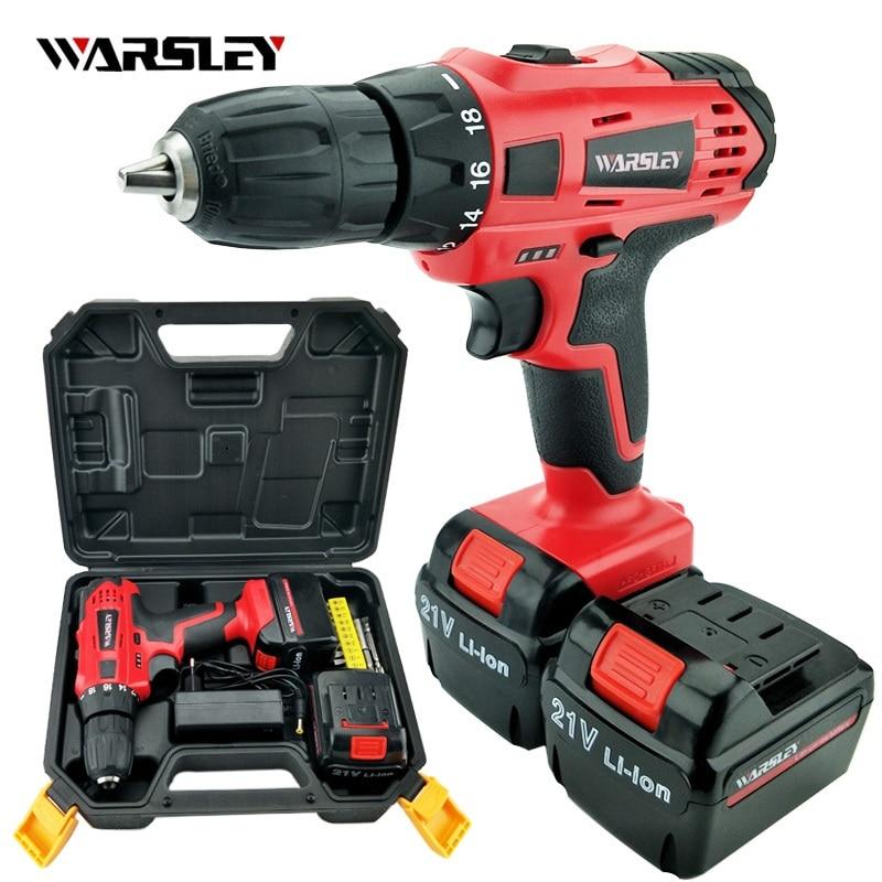 21v electric Drill power tools Cordless torque Drill Batteries Screwdriver Mini electric screwdriver cordless drilling цена