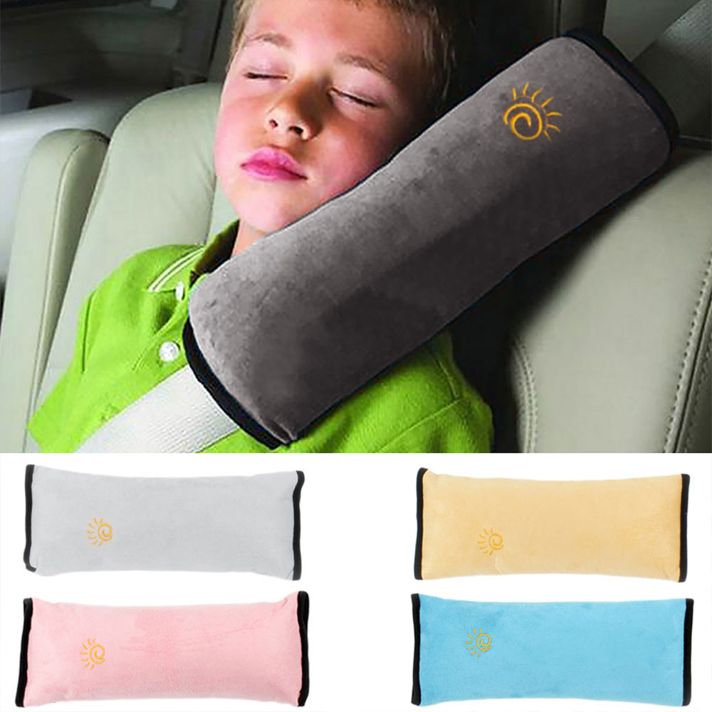 Vehemo 28x9x12cm Baby Children Safety Strap Micro-suede Fabric Car Seat Belts Pillow Shoulder Protection C0.18ar-Styling