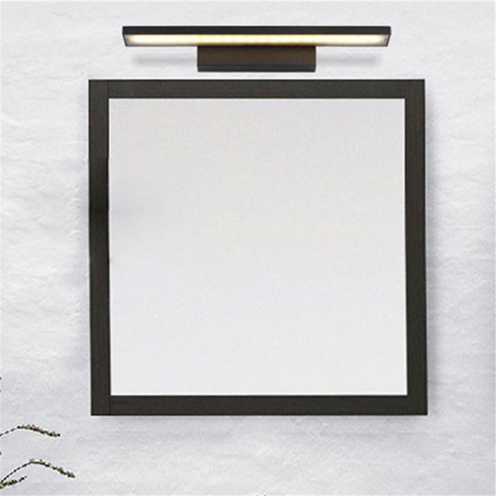 90V - 265V L40cm 8W led mirror lights lamp Black white vanity lights LED Dress mirror bedroom bathroom aluminum Modern lamps 90v 265v 12w 37cm led mirror lights lamp modern white cabinet lights led dress mirror bedroom bathroom lighting fixture