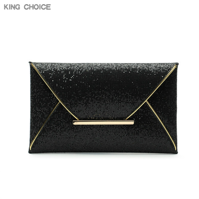 New Day Clutches Women Bags luxury brand Evening Party Bag Gold Sequins Envelope Bag Purse Clutch Handbags Shiny Solid Ultrathin luxury real new arrival day clutches diamonds flower women bag banquet crystal handbag wedding party handbags night clubs purse