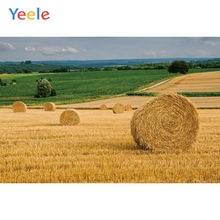 Yeele Autumn Harvest Wheat Fields Haystack Sky Forest Photography Background Customized Photocall Backdrop For Photo Studio