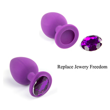 Silicone Butt Plug With Crystal Jewelry