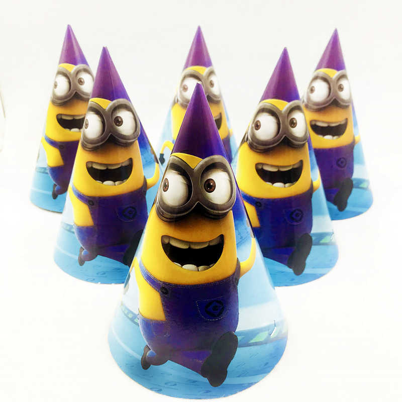 Detail Feedback Questions About 6pcs Minions Birthday Party Hats