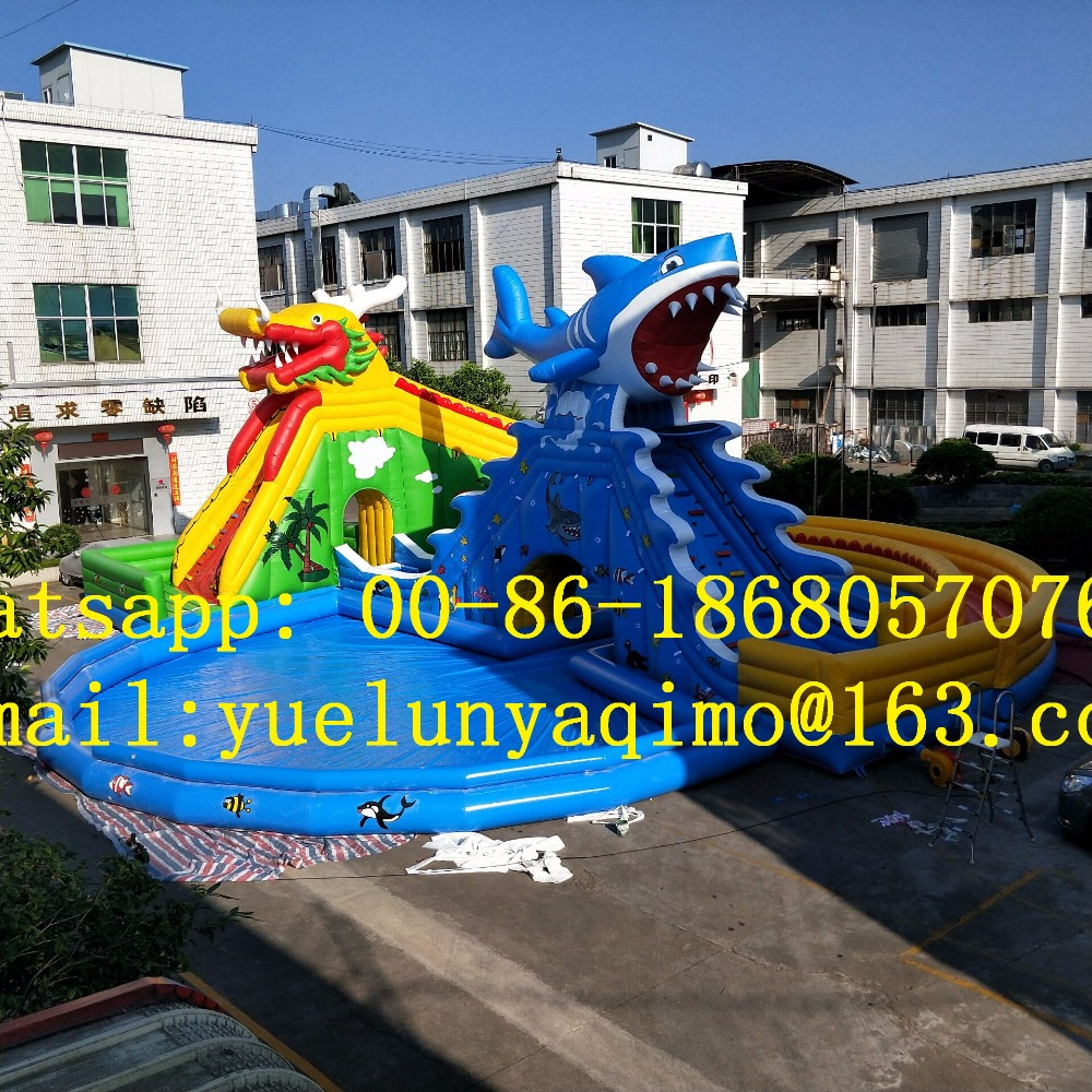 (China Guangzhou)Factory direct inflatable water slides, water parks, large water toys BYSW 715