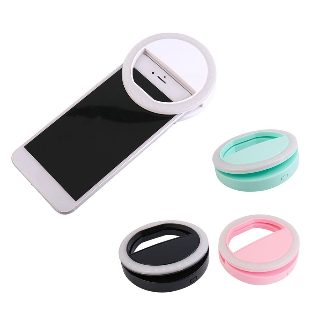 Universal Portable LED Flash Fill Light Up Selfie Luminous Lamp Phone Ring For iPhone 6 6S Plus 7 7 8 Plus X