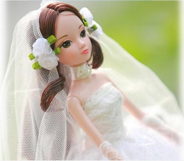 Free shipping Kurhn Doll 29CM Romantic Wedding Bride Doll Series Toys For Girls Kids Christmas Gifts Children Hobby Dolls