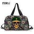 Forudesigns camouflage skull punk deporte bolsas de viaje bolsas de deporte para los hombres y las mujeres al aire libre impermeable del bolso bolsas de lona