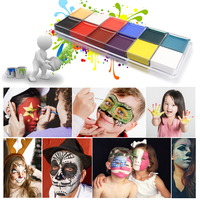 ISMINE 1 Set 12 Color Face Bodypaiting Flash Tattoo Face Body Paint Oil Painting Art Halloween