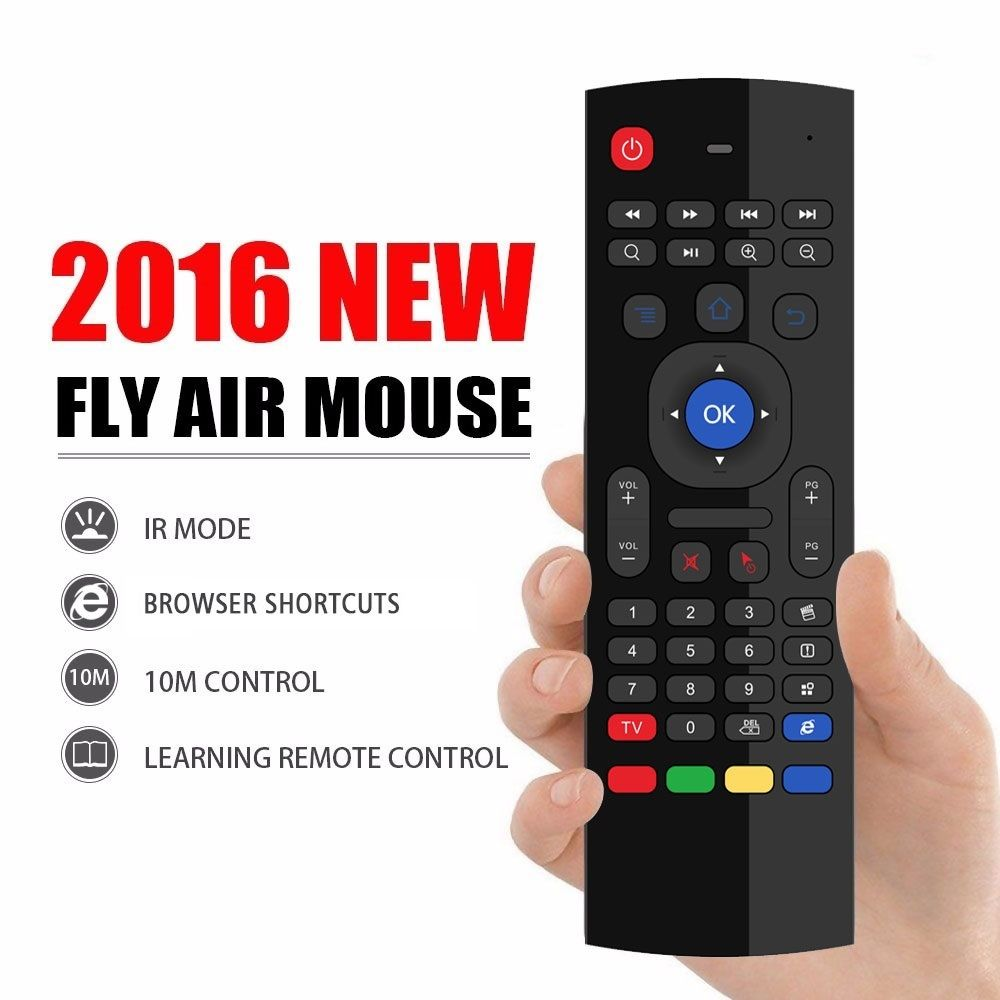 actory Direct price MX3 2.4GHz 6 in 1 function Wireless Full keyboard Fly Air Mouse Remote For Android Smart TV BOX