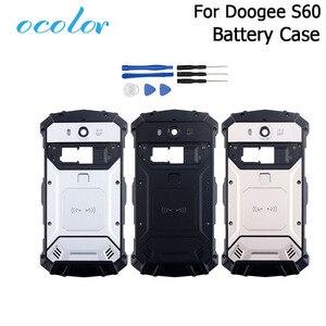 Image 1 - Ocolor Doogee S60 S60 Lite pil kutusu Bateria arka kapak kılıfı için yedek 5.2 inç Doogee S60 + kamera çerçeve + araçları