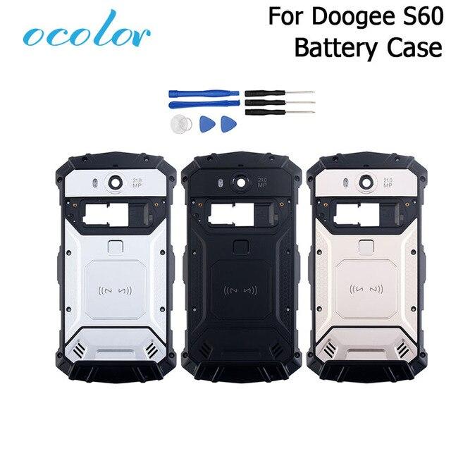 Ocolor Doogee S60 S60 Lite pil kutusu Bateria arka kapak kılıfı için yedek 5.2 inç Doogee S60 + kamera çerçeve + araçları