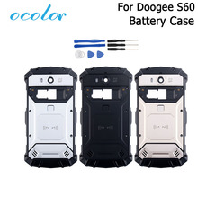 Ocolor para doogee s60 s60 lite bateria caso bateria volta capa substituição 5.2 polegada para doogee s60 + quadro da câmera ferramentas