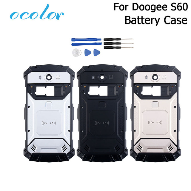 ocolor For Doogee S60 S60 Lite Battery Case Bateria Back Case Cover Replacement 5.2 inch For Doogee S60 + Camera frame +Tools